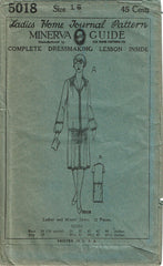 1920s Vintage Ladies Home Journal Sewing Pattern 5018 Uncut Flapper Dress Sz 34B