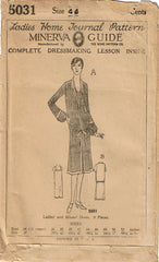 1920s VTG Ladies Home Journal Sewing Pattern 5031 FF Plus Size Flapper Dress 44B