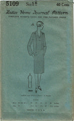 1920s VTG Ladies Home Journal Sewing Pattern 5109 FF Misses Flapper Dress Sz 34B