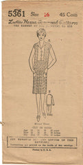 1920s VTG Ladies Home Journal Sewing Pattern 5361 Uncut Misses Flapper Dress 34B