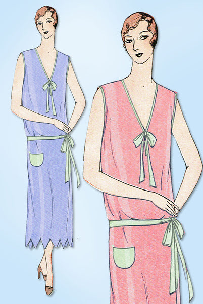 1920s VTG Ladies Home Journal Sewing Pattern 5851 Uncut Flapper Nightgown Sz MED
