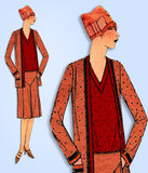 1920s Ladies Home Journal Sewing Pattern 6133 Plus Size Flapper 3 Pc Suit Sz 40B - Vintage4me2