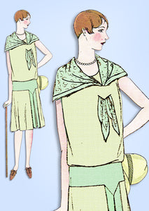 1920s VTG Ladies Home Journal Sewing Pattern 6134 Uncut Flapper Dress Sz 40 Bust - Vintage4me2