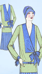1920s Ladies Home Journal Sewing Pattern 6173 Uncut Misses Flapper Dress Sz 36 B -Vintage4me2