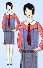 1920s Vintage Ladies Home Journal Sewing Pattern 6181 Uncut Girls Flapper Dress
