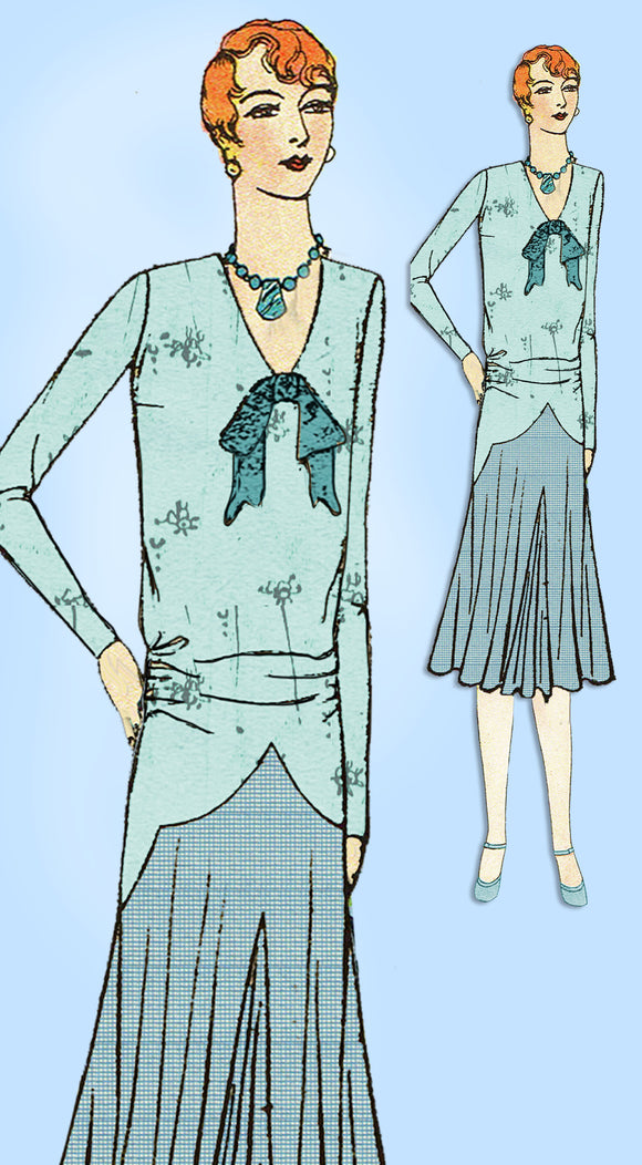1920s VTG Ladies Home Journal Sewing Pattern 6288 Uncut Flapper Dress Sz 38 Bust - Vintage4me2
