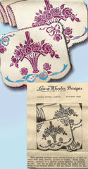 1930s Vintage Laura Wheeler Embroidery Transfer 1406 Uncut Cross Stitch Pcases