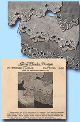 1930s Laura Wheeler Embroidery Transfer 1960 Uncut Cutwork Flower Pillowcases
