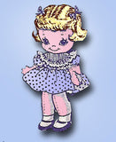 1950s Vintage Laura Wheeler Sewing Pattern 557 Uncut 10 Inch Lil Girl Sock Doll