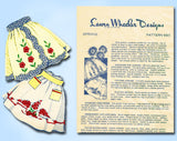 1940s 50 Laura Wheeler Apron Pattern with Transfer Uncut Original LW 683 - Vintage4me2
