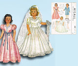 1940s Vintage McCall Sewing Pattern 1089 Uncut 22in Little Lady Doll Clothes Set - Vintage4me2