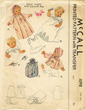 McCall 1098: Rare WWII Infants Layette Set & Carry Bag Vintage Sewing Pattern
