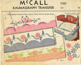 1940s Vintage McCall Embroidery Transfer 1161 Uncut Applique Morning Glory Pcase