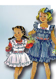 1940s Vintage McCall Sewing Pattern 1416 Uncut Toddler Girls Pinafore Dress Sz 6 - Vintage4me2
