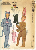 1950s Vintage McCall's Sewing Pattern 1485 Uncut Boys Girls Animal Costume Sz 4