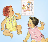 1940s Vintage McCall Sewing Pattern 1489 Embroidered Baby Shirt & Diaper Cover 1 - Vintage4me2