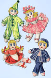 1940s Vintage McCall Sewing Pattern 1502 15 In Boy and Girl Sock Dolls & Clothes - Vintage4me2