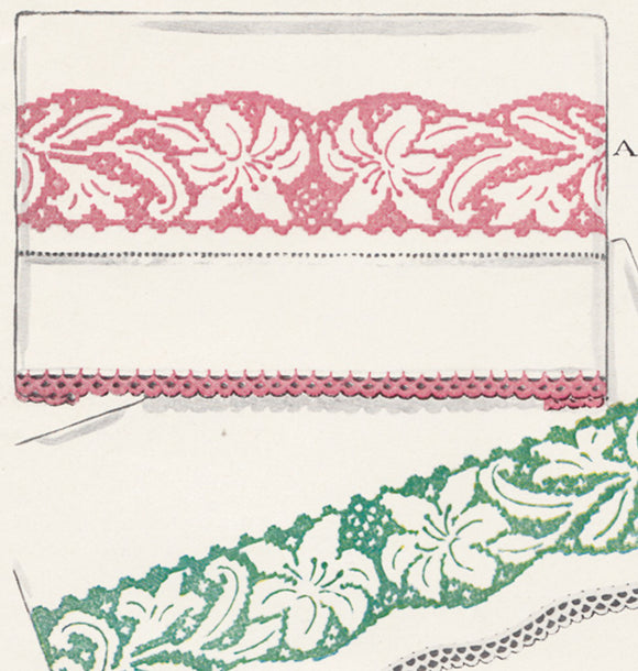 1950s VTG McCall Embroidery Transfer 1607 Uncut X-Stitch Floral Pillowcases - Vintage4me2