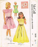 1950s Vintage McCall Sewing Pattern 1610 Toddler Girls Sheer Dress or Gown Sz 4 - Vintage4me2