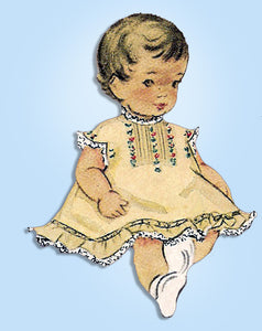 1940s Vintage McCall Sewing Pattern 1618 Babys Heirloom Pinafore & Diaper Cover