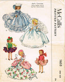 1950s Vintage McCalls Sewing Pattern 1653 7.5 Inch Marcie Doll Clothes ORIG