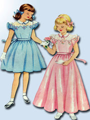 1950s Original Vintage McCall Pattern 1651 Girls Flower Girl Dress or Gown Sz 10