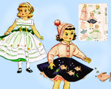 1950s Vintage McCalls Sewing Pattern 1809 18 Inch Alice & Maggie Doll Clothes