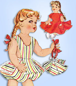 1950s Vintage McCalls Sewing Pattern 1825 16inch Saucy Walker Doll Clothes Set