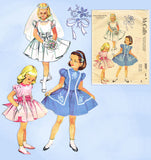 1950s Vintage McCall's Sewing Pattern 2007 Toddler Girls Confirmation Dress Sz 6 -Vintage4me2