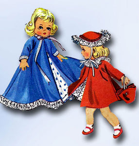1950s Vintage McCalls Sewing Pattern 2150 Easy 9-10 Inch Dimunitive Doll Clothes