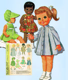 1960s Vintage McCalls Sewing Pattern 2157 Uncut Large 17-20 In Baby Doll Clothes