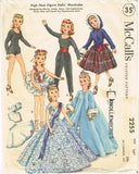 1950s Original Vintage McCalls Pattern 2255 15 Inch Revlon Doll Clothes ORIG