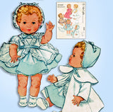 1950s Vintage McCalls Sewing Pattern 2349 Betsy Wetsy 23-25 in Baby Doll Clothes