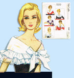 1960s Vintage McCall's Sewing Pattern 2387 Uncut Misses Set of Collars Fits All - Vintage4me2