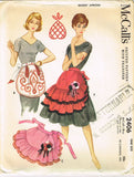 1960s Vintage McCall's Sewing Pattern 2406 Uncut Misses Ruffled Apron Fits All -Vintage4me2