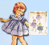 1960s Vintage McCall's Sewing Pattern 2447 Helen Lee Baby Girls Dress Size 1