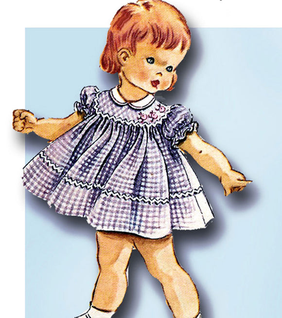 1960s Vintage McCall's Sewing Pattern 2447 Helen Lee Baby Girls Dress Size 6 mos - Vintage4me2