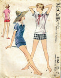 1950s Vintage Misses Shorts and Shirts Uncut McCalls Sewing Pattern Size 31 - Vintage4me2