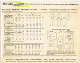 1950s Vintage McCalls Sewing Pattern 3287 Junior Misses Skirt and Blouse Sz 29 B