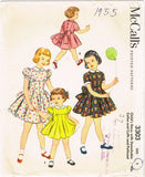 1950s Vintage McCalls Sewing Pattern 3303 Uncut Baby Girls Party Dress Size 1