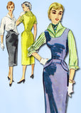 1950s Vintage McCalls Sewing Pattern 3324 Misses Wiggle Dress or Jumper Size 12