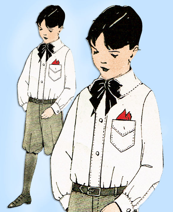1920s Original Antique McCall Sewing Pattern 3360 Toddler Boy's Blouse Size 4 - Vintage4me2