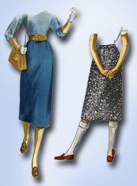 1950s Vintage McCalls Sewing Pattern 3369 Uncut Misses Easy Skirt Size 25 Waist - Vintage4me2