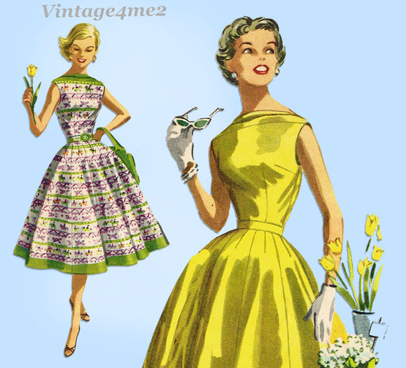McCalls 3489: 1950s Misses 2 Piece Dress Size 30 Bust Vintage Sewing Pattern