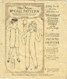McCall 3496: 1920s Toddler Boys Union Suit Underwear Sz 4 Vintage Sewing Pattern - Vintage4me2