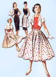 1950s Vintage McCalls Sewing Pattern 3602 FF Misses Around the World Separates