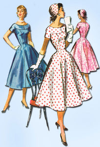 1950s Vintage McCalls Sewing Pattern 3626 Misses Princess Dress & Hat Sz 11 29B