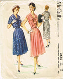 1950s Vintage McCalls Sewing Pattern 3665 Misses Dress and Bolero Size 14 32B
