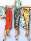 1950s Vintage McCalls Sewing Pattern 3734 Easy Instant Pencil Skirt Size 26 W