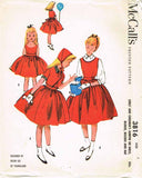 1950s Vintage McCalls Sewing Pattern 3816 FF Helen Lee Girls Dress Size 4 23B